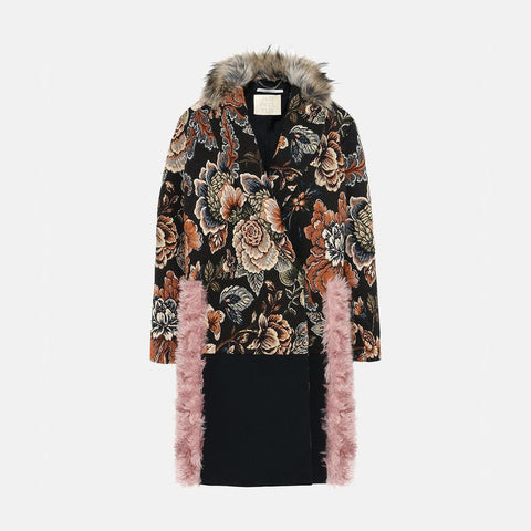 Stella McCartney Fur Free Fur Jacquard Rosemarie Coat-Womens Coat-Stella McCartney-Unicorn Goods