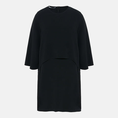 Stella McCartney Georgia Black Fringe Dress-Womens Short Dress-Stella McCartney-Unicorn Goods