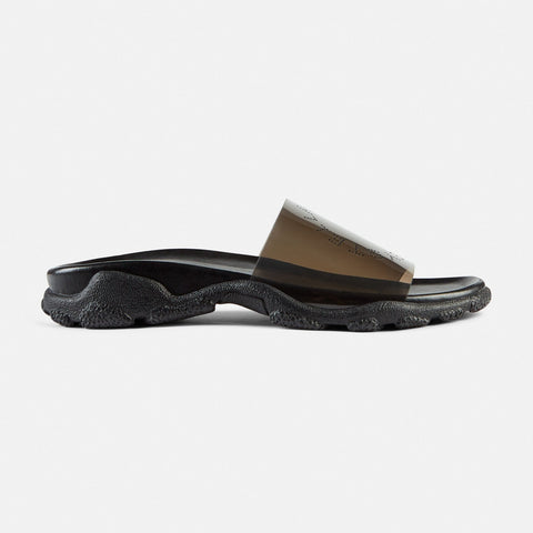 Stella McCartney Grey Logo Slides-Womens Sandals-Stella McCartney-Unicorn Goods