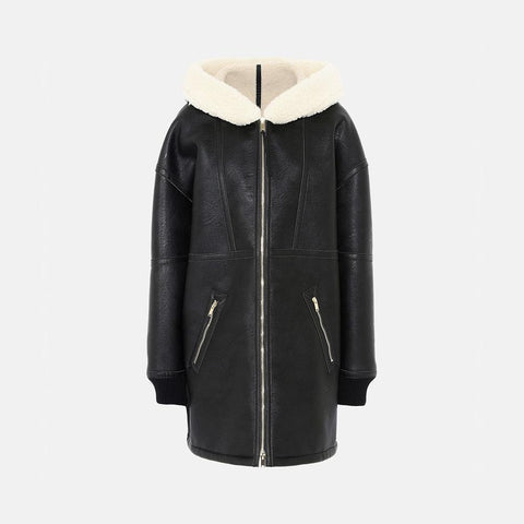 Stella McCartney Henna Shearling Coat-Womens Coat-Stella McCartney-Unicorn Goods