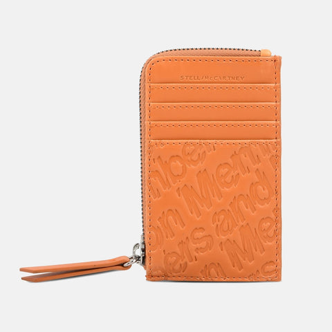 Stella McCartney Honey Eco Alter Nappa Embossed Card And Coin Case-Womens Wallet-Stella McCartney-Unicorn Goods