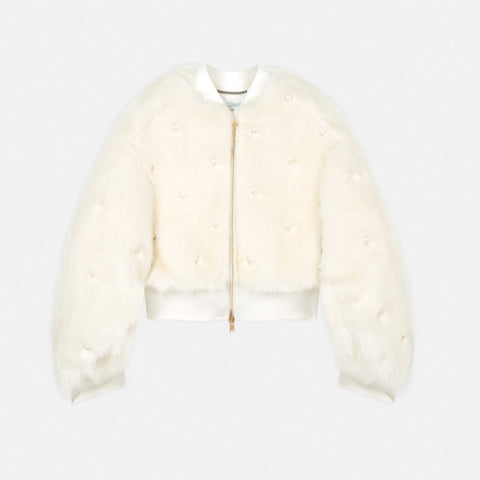 Stella McCartney Kiernand Fur Free Fur Bomber Jacket-Womens Jacket-Stella McCartney-Unicorn Goods