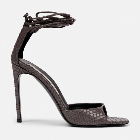 c0a050680231 Stella McCartney Lace Up Heeled Sandals in Gray