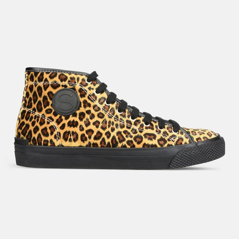 Stella McCartney Leopard High Top Vulca Sneakers-Womens Sneakers-Stella McCartney-Unicorn Goods
