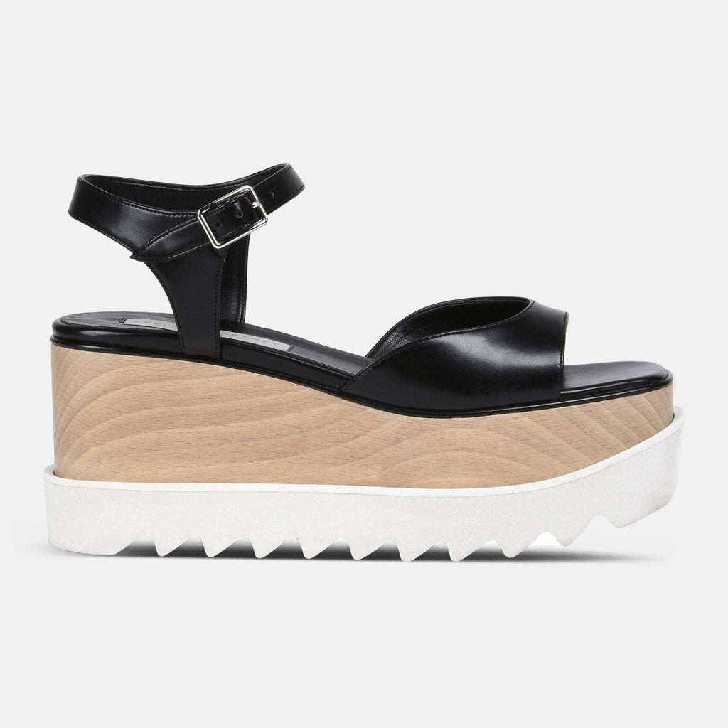 Stella McCartney Low Black Elyse Sandals-Womens Sandals-Stella McCartney-Unicorn Goods