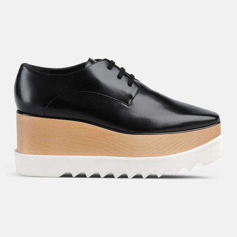 Stella McCartney Low Black Elyse Shoes-Womens Oxfords-Stella McCartney-Unicorn Goods