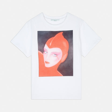 Stella McCartney Men's T-Shirt in White-Mens T-shirt-Stella McCartney-Unicorn Goods
