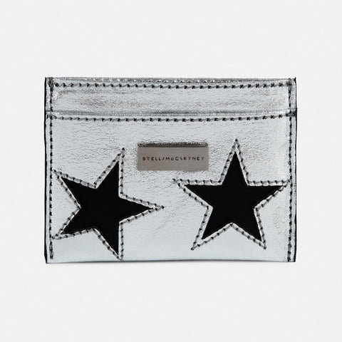 Stella McCartney Metallic Stars Card Case-Womens Wallet-Stella McCartney-Unicorn Goods