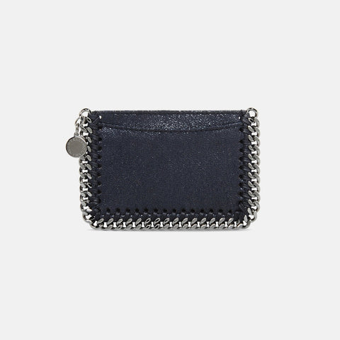 Stella McCartney Navy Falabella Shaggy Deer Card Holder-Womens Wallet-Stella McCartney-Unicorn Goods