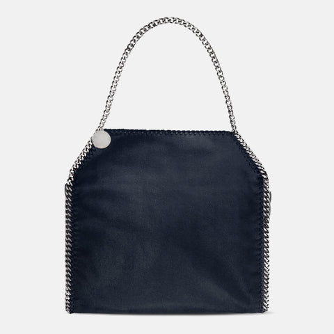 fbe440dfc2 Stella McCartney Navy Falabella Shaggy Deer Small Tote