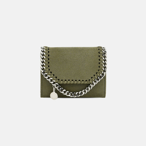 Stella McCartney Olive Falabella Shaggy Deer Small Wallet-Womens Wallet-Stella McCartney-Unicorn Goods