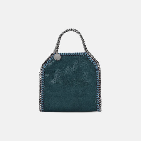 0723a3479732 Stella McCartney Silver Falabella Chamois Mini Backpack  Stella McCartney  Petroleum Falabella Shiny Dotted Chamois Tiny Tote new style 9be5d c3ba7 ...