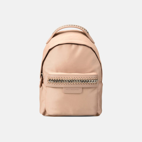 Stella McCartney Powder Pink Falabella GO Mini Backpack-Womens Backpack-Stella McCartney-Unicorn Goods