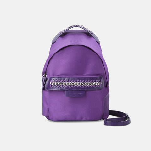 Stella McCartney Purple Falabella GO Mini Backpack-Womens Backpack-Stella McCartney-Unicorn Goods