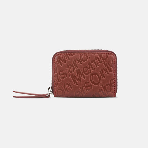 Stella McCartney Red Eco Alter Nappa Embossed Coin Purse-Womens Wallet-Stella McCartney-Unicorn Goods