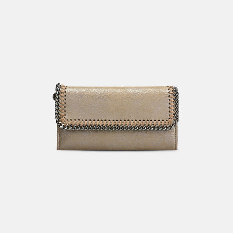 Stella McCartney Redwood Falabella Shiny Dotted Chamois Flap Wallet-Womens Wallet-Stella McCartney-Unicorn Goods