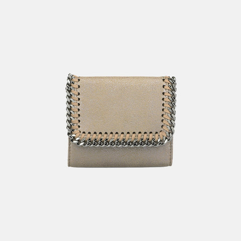 Stella McCartney Redwood Falabella Shiny Dotted Flap Wallet-Womens Wallet-Stella McCartney-Unicorn Goods