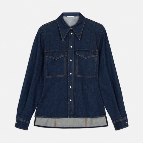 Stella McCartney Reina Organic Denim Shirt-Womens Shirt-Stella McCartney-Unicorn Goods