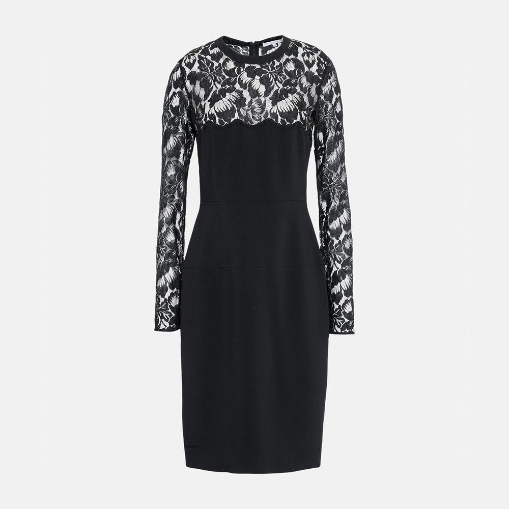 Stella McCartney Sally Black Lace Dress-Womens Short Dress-Stella McCartney-Unicorn Goods