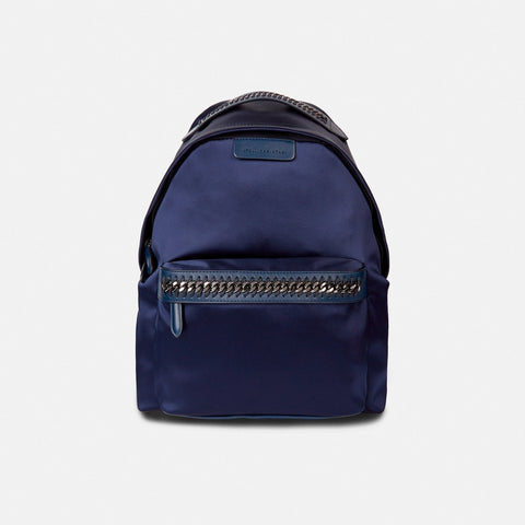 0e2fcf24c5 Stella McCartney Satin Blue Falabella Go Backpack