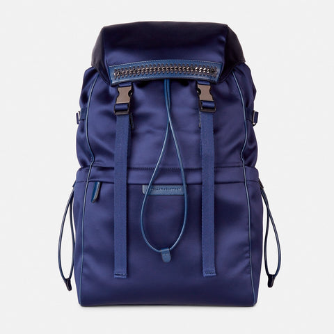 846e9c34b5 Stella McCartney Satin Blue Falabella Go Mountain Backpak