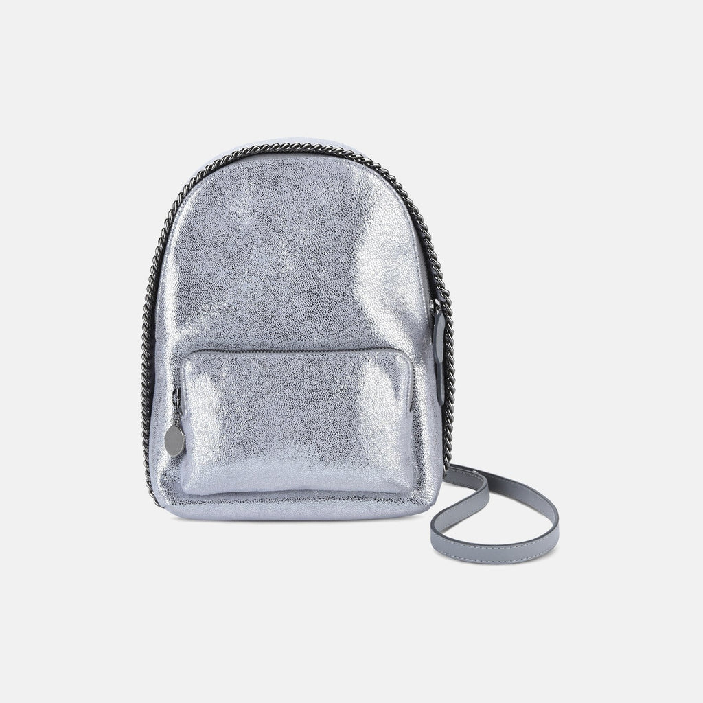Stella McCartney Silver Falabella Chamois Mini Backpack-Womens Backpack-Stella McCartney-Unicorn Goods
