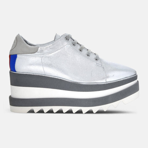 Stella McCartney Silver Sneak-Elyse-Womens Sneakers-Stella McCartney-Unicorn Goods