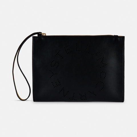 be1dcbeec6 Stella McCartney Stella Logo Clutch in Black