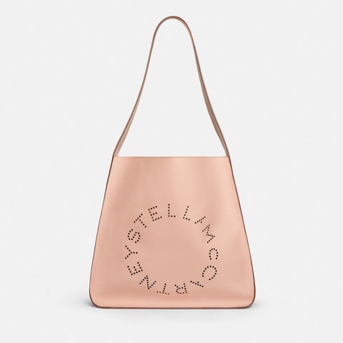 Stella McCartney Stella Logo Hobo Bag in Pink-Womens Tote-Stella McCartney-Unicorn Goods