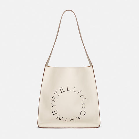 Stella McCartney Stella Logo Hobo Bag in White-Womens Tote-Stella McCartney-Unicorn Goods