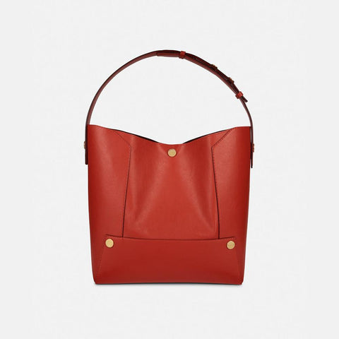 Stella McCartney Stella Popper Small Hobo Bag in Red-Womens Purse-Stella McCartney-Unicorn Goods