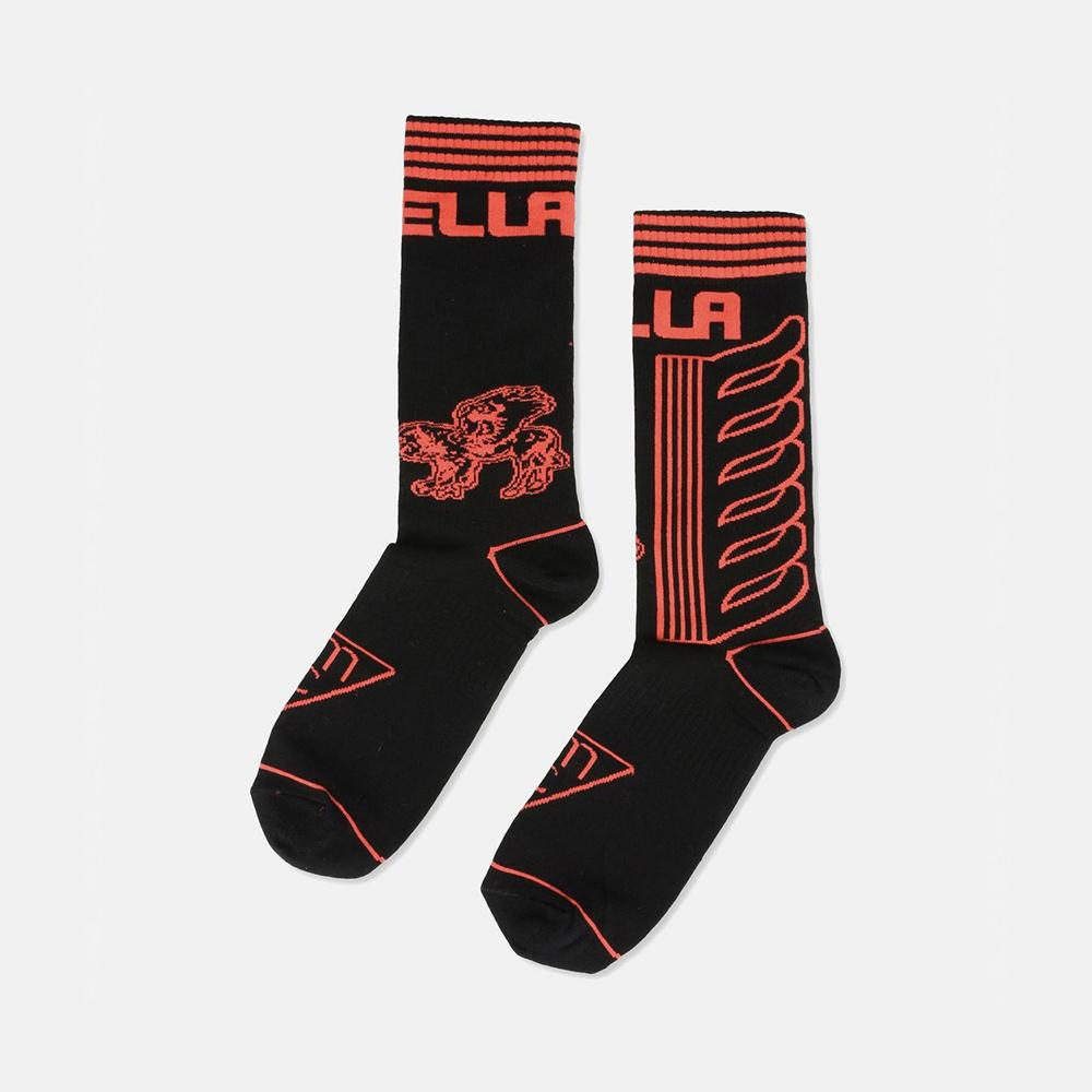 Stella McCartney Stella Red Logo Socks-Unisex Socks-Stella McCartney-Unicorn Goods