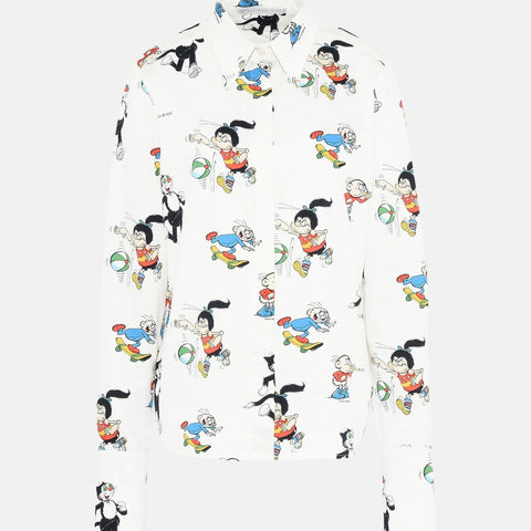 Stella McCartney The Dandy Print Organic Cotton Didi Shirt-Womens Shirt-Stella McCartney-Unicorn Goods