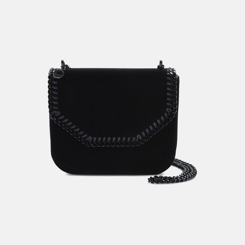 cd53f7c1df Stella McCartney Velvet Black Falabella Box Large Shoulder Bag