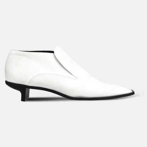 Stella McCartney White Alter Nappa Low Ankle Boots-Womens Booties-Stella McCartney-Unicorn Goods