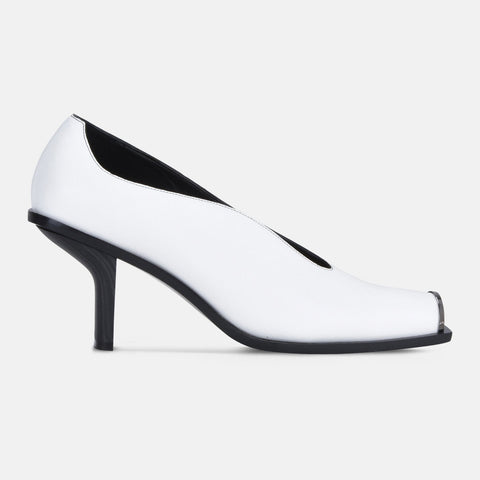 Stella McCartney White Alter Nappa Pumps-Womens Heels-Stella McCartney-Unicorn Goods