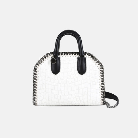 Stella McCartney White Falabella Box Alter Croc Mini Bag-Womens Purse-Stella McCartney-Unicorn Goods