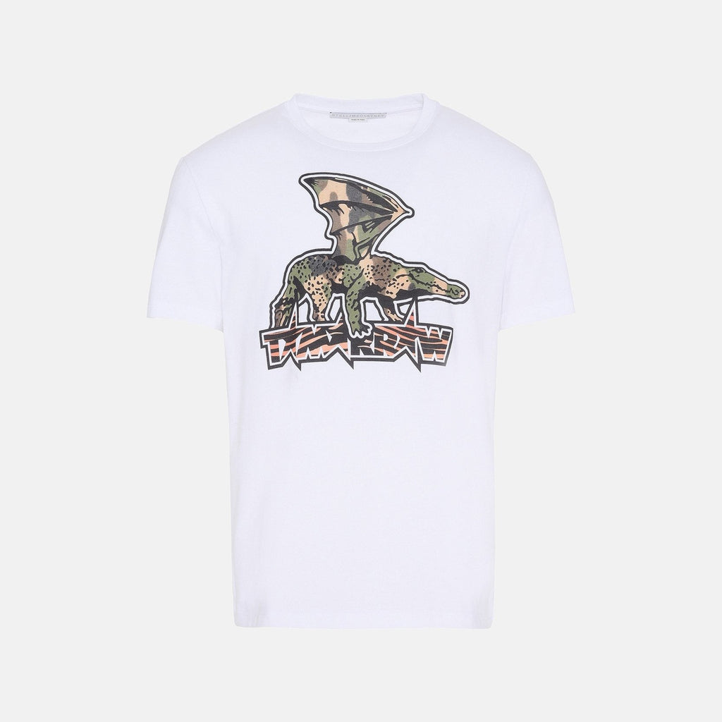 9dd1318c Stella McCartney White Tomorrow Print T-Shirt-Mens T-shirt-Stella McCartney