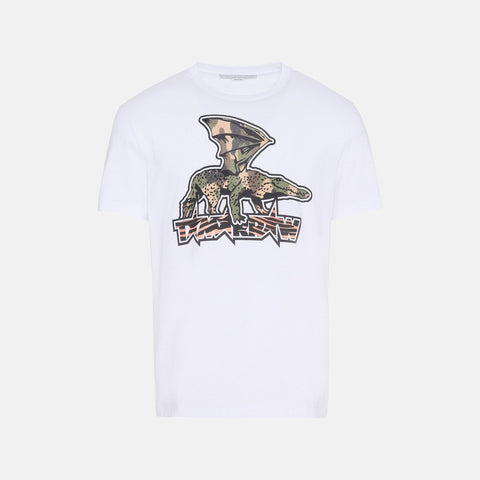Stella McCartney White Tomorrow Print T-Shirt-Mens T-shirt-Stella McCartney-Unicorn Goods