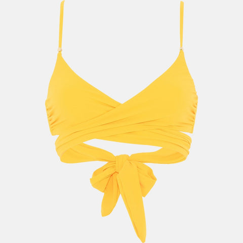 Stella McCartney Yellow Wrap Bikini Top-Womens Bathing Suit-Stella McCartney-Unicorn Goods