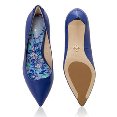 The Frida by VEERAH in Blue Apple Leather-Womens Pumps-Veerah-Unicorn Goods
