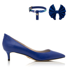 The Maya by VEERAH in Blue Apple Leather-Womens Pumps-Veerah-Unicorn Goods
