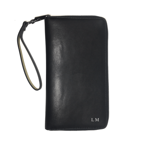 TIVC Black Vegan Leather Fernweh Wristlet Wallet-Womens Wallet-TIVC-Unicorn Goods