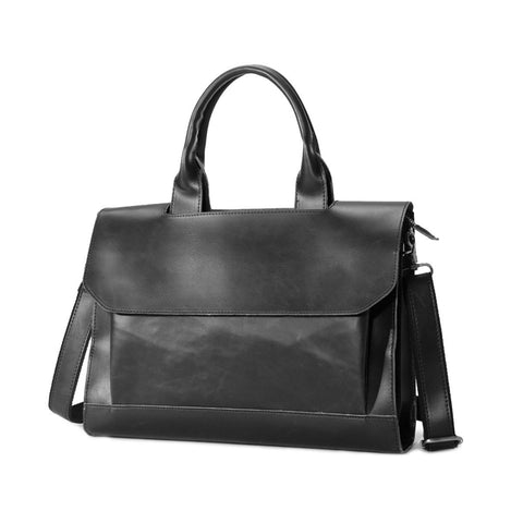 Tokyo Bags Kazuno Flap Briefcase in Classic Black-Unisex Briefcase-Tokyo Bags-Unicorn Goods