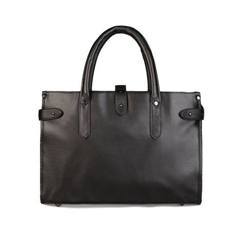 Tokyo Bags Osaka Classic Briefcase in Black-Unisex Briefcase-Tokyo Bags-Unicorn Goods