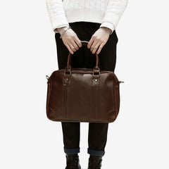 Tokyo Bags Seto Signature Hand Carry Bag in Vintage Brown-Unisex Briefcase-Tokyo Bags-Unicorn Goods