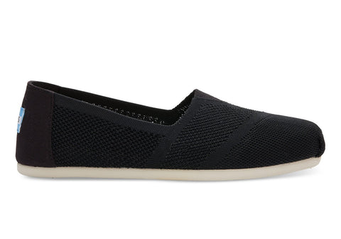 TOMS Black Custom Knit Women's Classics-Womens Slip-Ons-Toms-Unicorn Goods