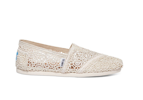 TOMS Women's Classics in Natural Moroccan Crochet-Womens Slip-Ons-Toms-Unicorn Goods
