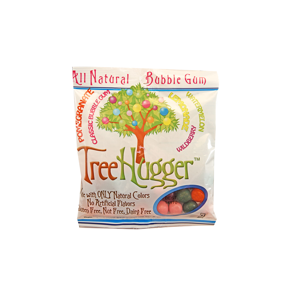 Tree Hugger All Natural Bubble Gum - Pomegranate, Lemonade, Wildberry and Watermelon-Gum-Food-Unicorn Goods