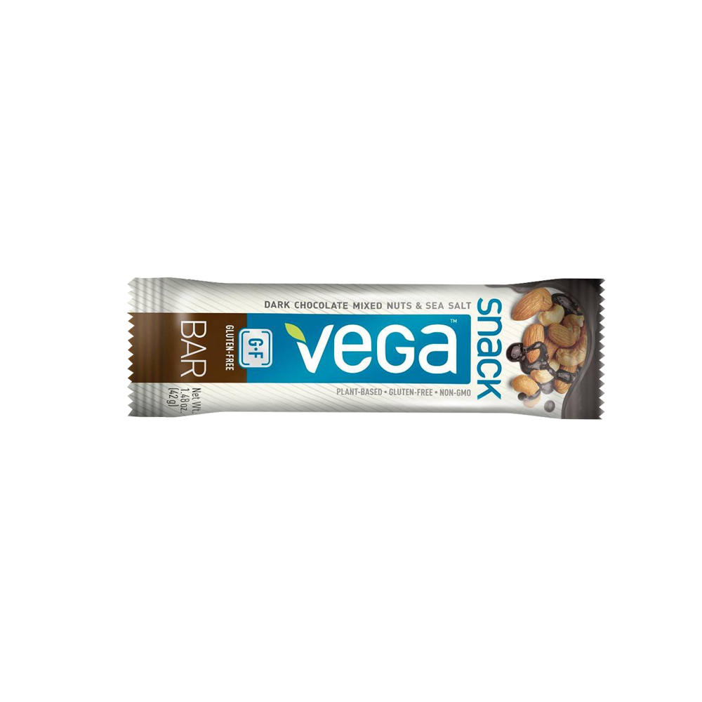 Vega Snack Dark Chocolate Mixed Nuts and Sea Salt Nutrition Bars (box of 12)-Food - Snack-Food-Unicorn Goods
